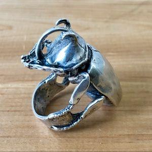 Marché Noire silver beetle ring